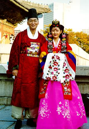 Wedding dress colection hanbok traditional korean for Korean wedding dress traditional